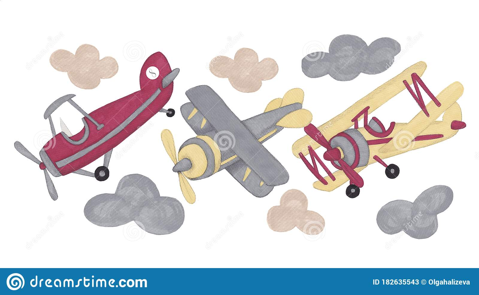 Toy Airplane Clipart Airplane Clip Art Vintage Airplanes Biplane Clipart Isolated On White Background Stock Image Image Of Aircraft Childhood 182635543