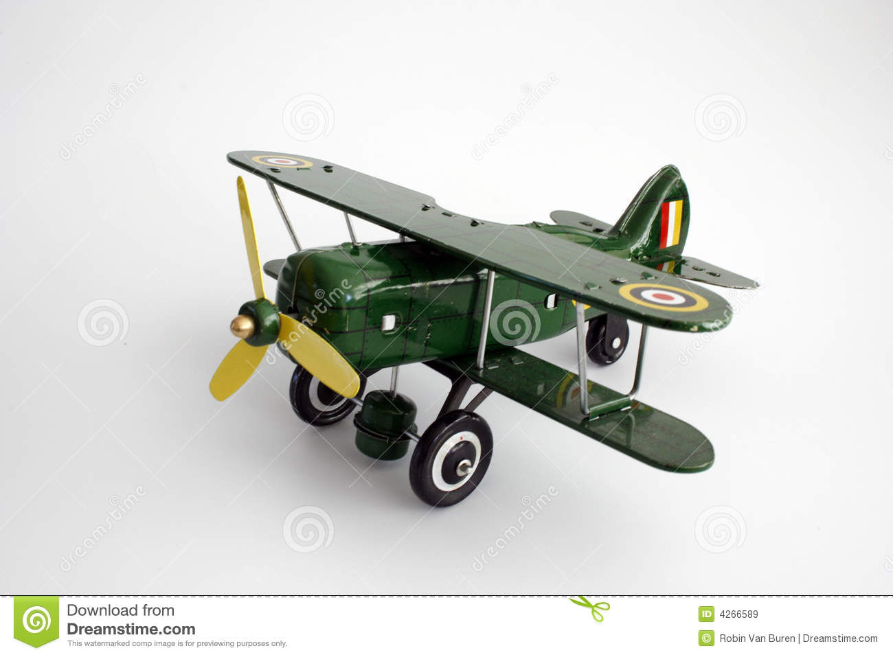 Toy Airplane Isolated Royalty Free Stock Images - Image: 4266589