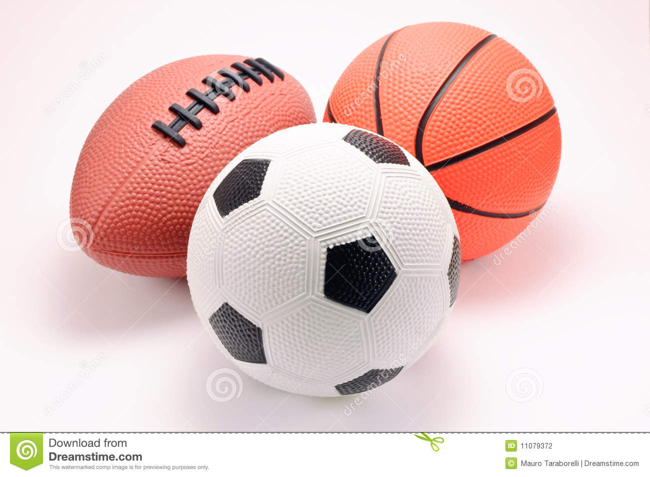 Toy Basketball, Football And Soccer Balls Stock Photography - Image ...