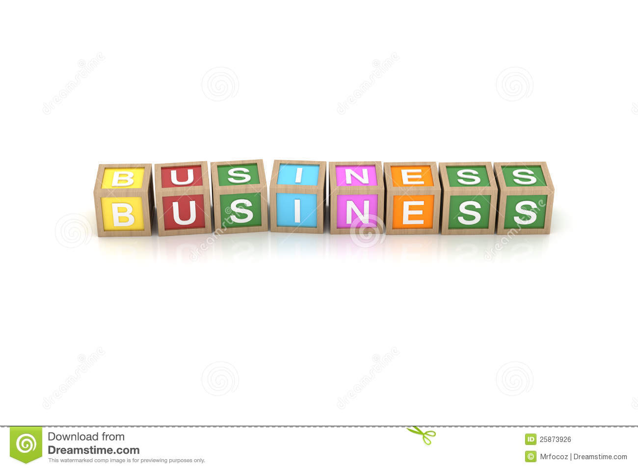 Toy Block With Business Word Royalty Free Stock Image ...