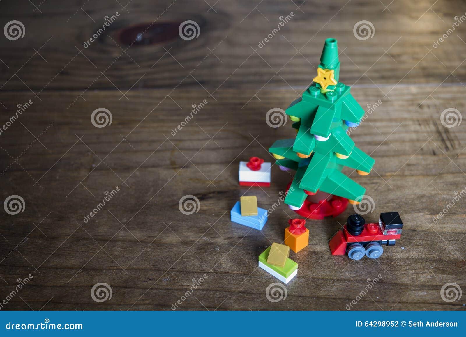 Toy block christmas tree still life stock photo image