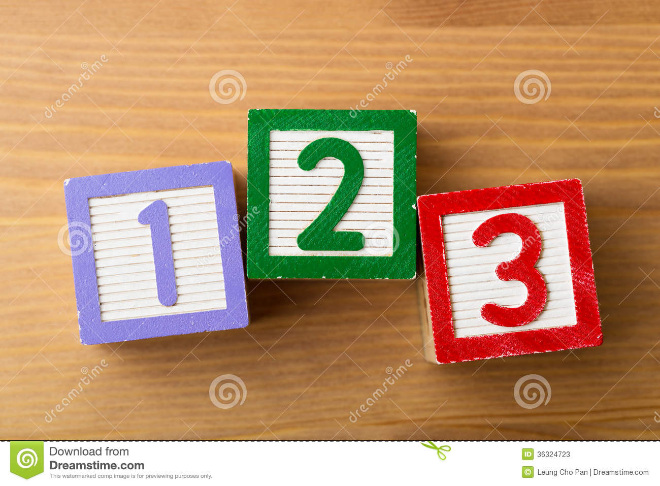 123 Toy Block Stock Photos - Image: 36324723