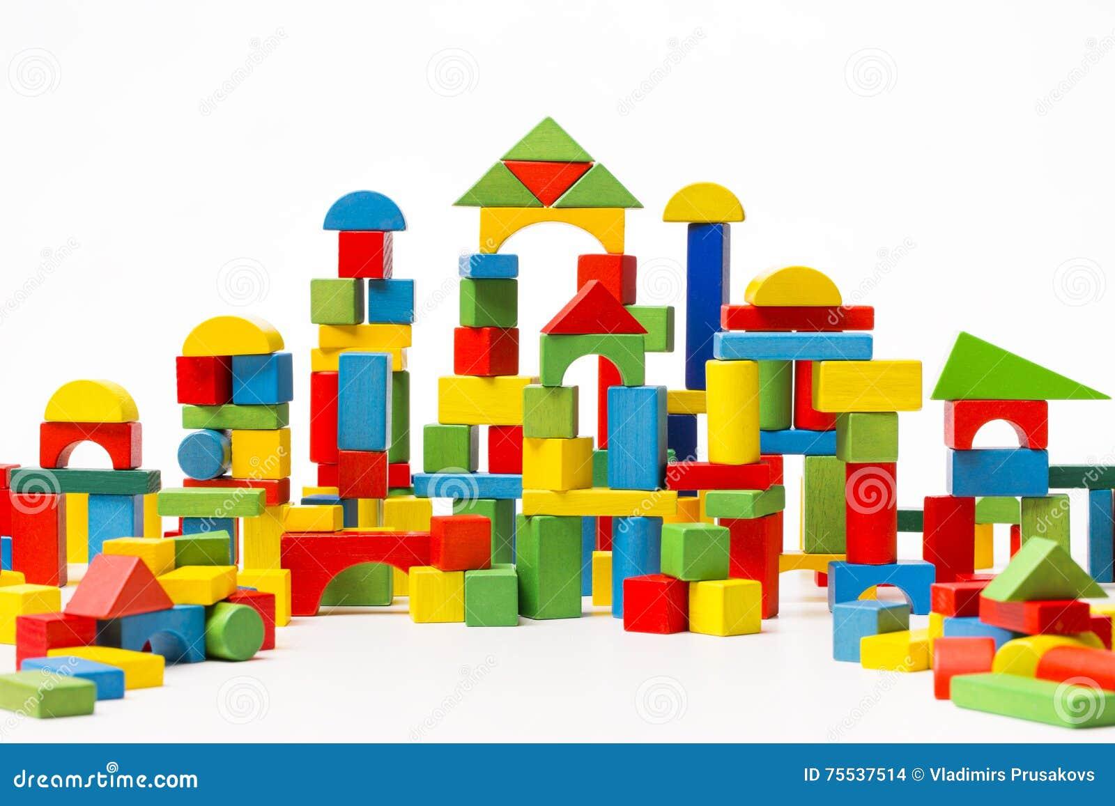 Toy Blocks City, de Bakstenen van de BabyWoningbouw, Jonge geitjes Houten Kubiek