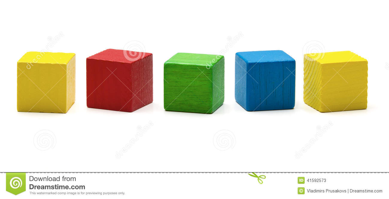 Toy Blocks, Multicolor Wooden Game Cube, Blank Boxes Stock Photo ...
