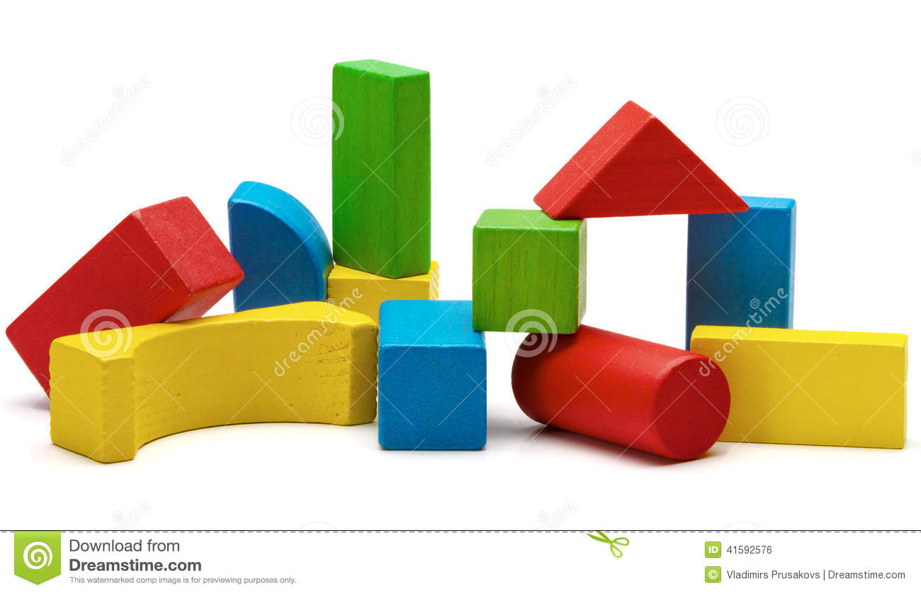 Toy Blocks Pyramid, Multicolor Wooden Bricks Stack Stock Photo - Image: 41592576