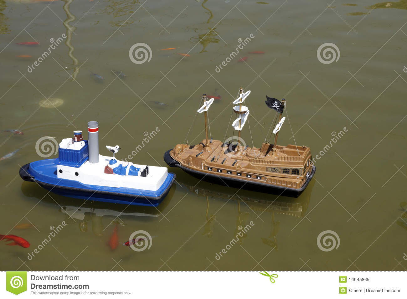 Toy boats stock image. Image of life, nature, competition - 14045865