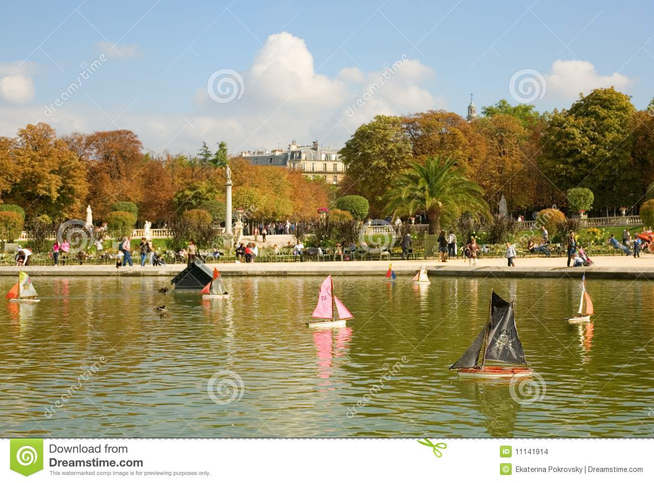 Toy boats in the Luxembourg Garden