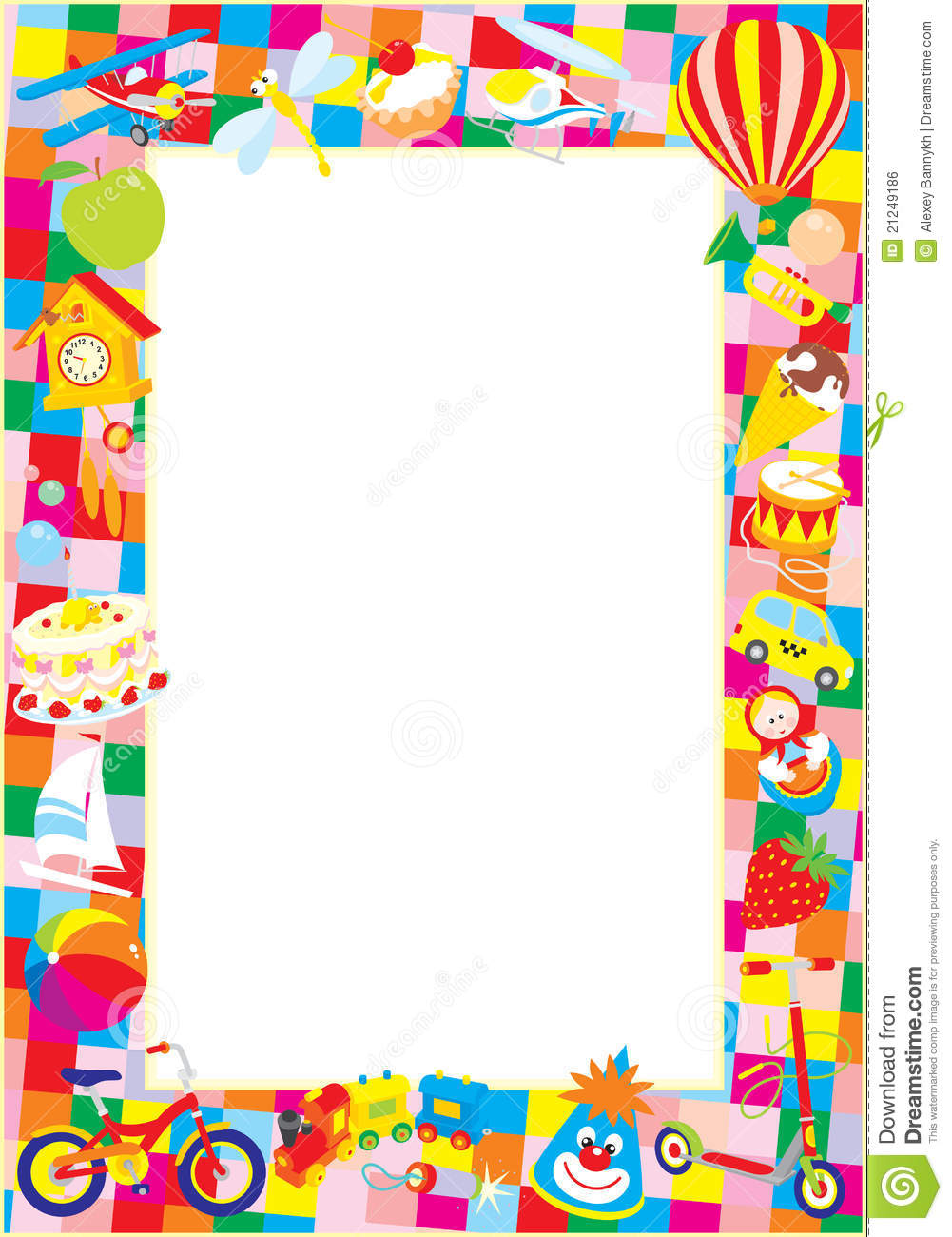 Boy Toys Border : Toy border stock illustration of frame