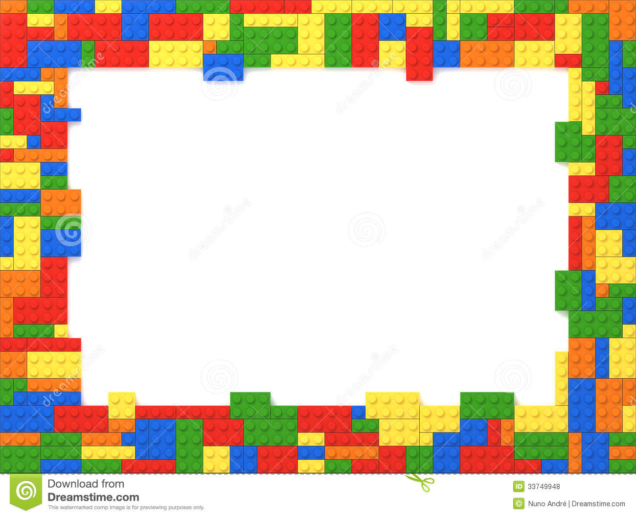 toy bricks picture frame random colors