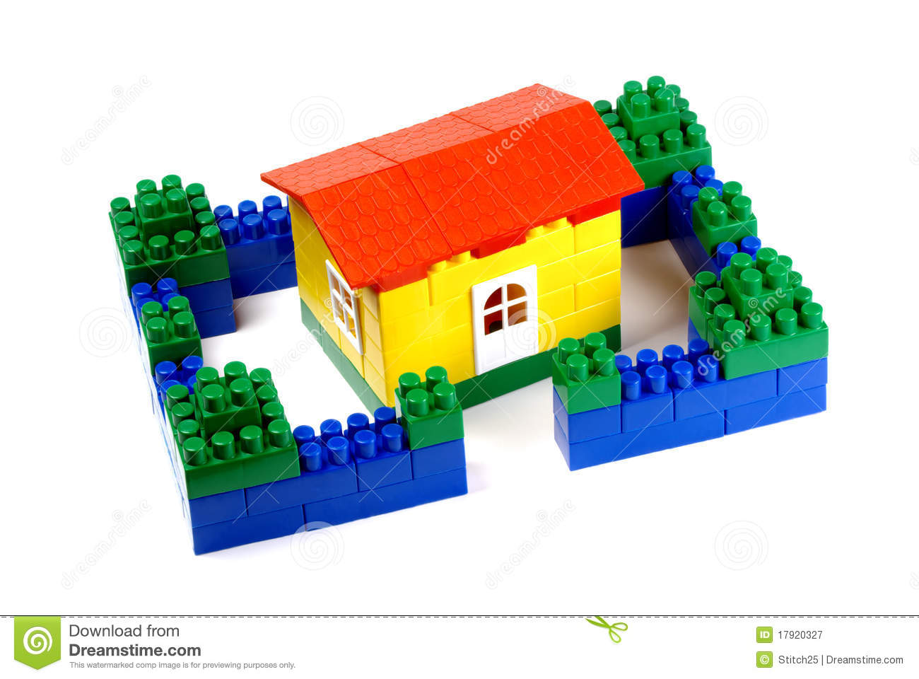 Toy building blocks a house royalty free stock for Construct a house online