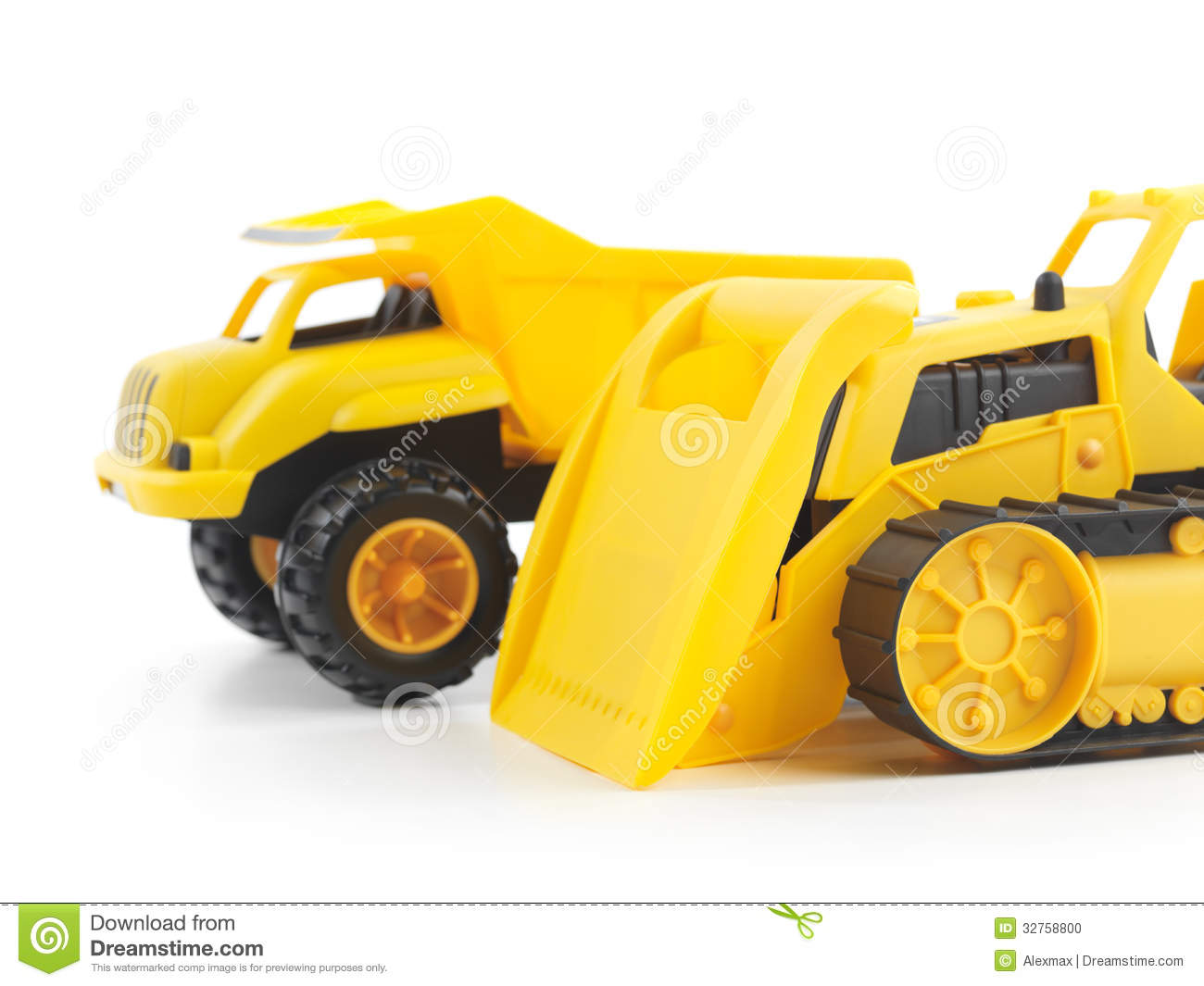 bulldozer and dump truck stock image image of machine 569111