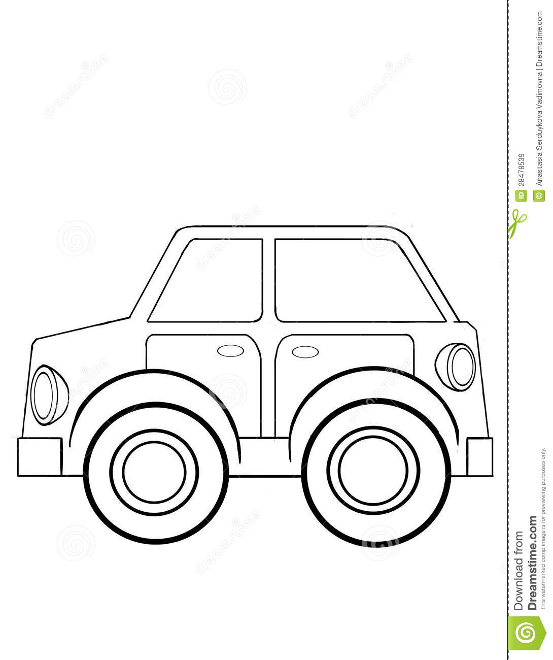Toy Car Coloring Royalty Free Stock Images Image 28478539