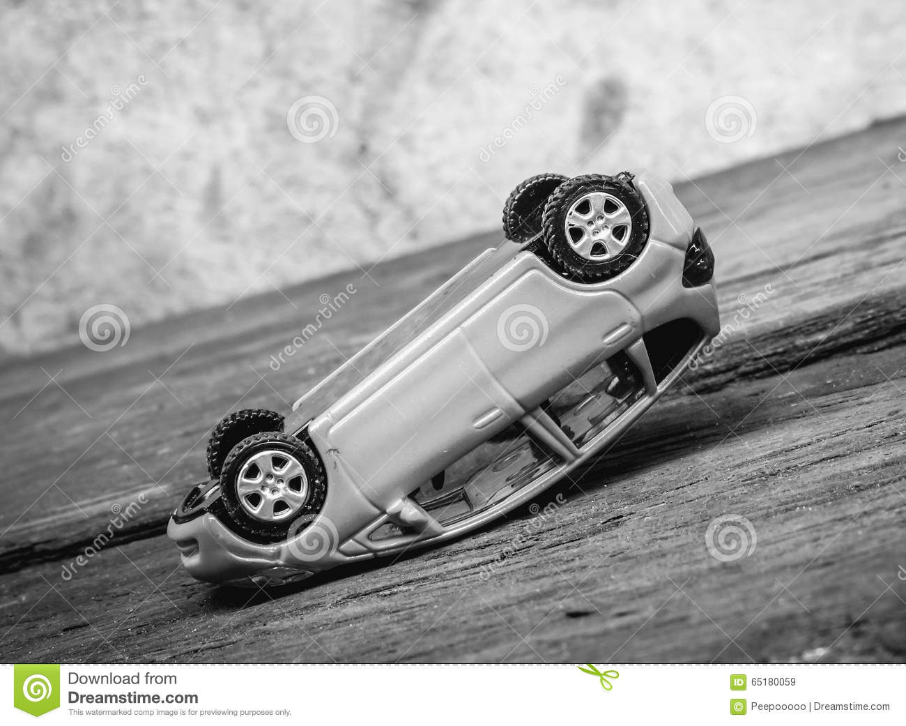 Toy Car Accident Stock Image Image Of Cracked Danger 65180059