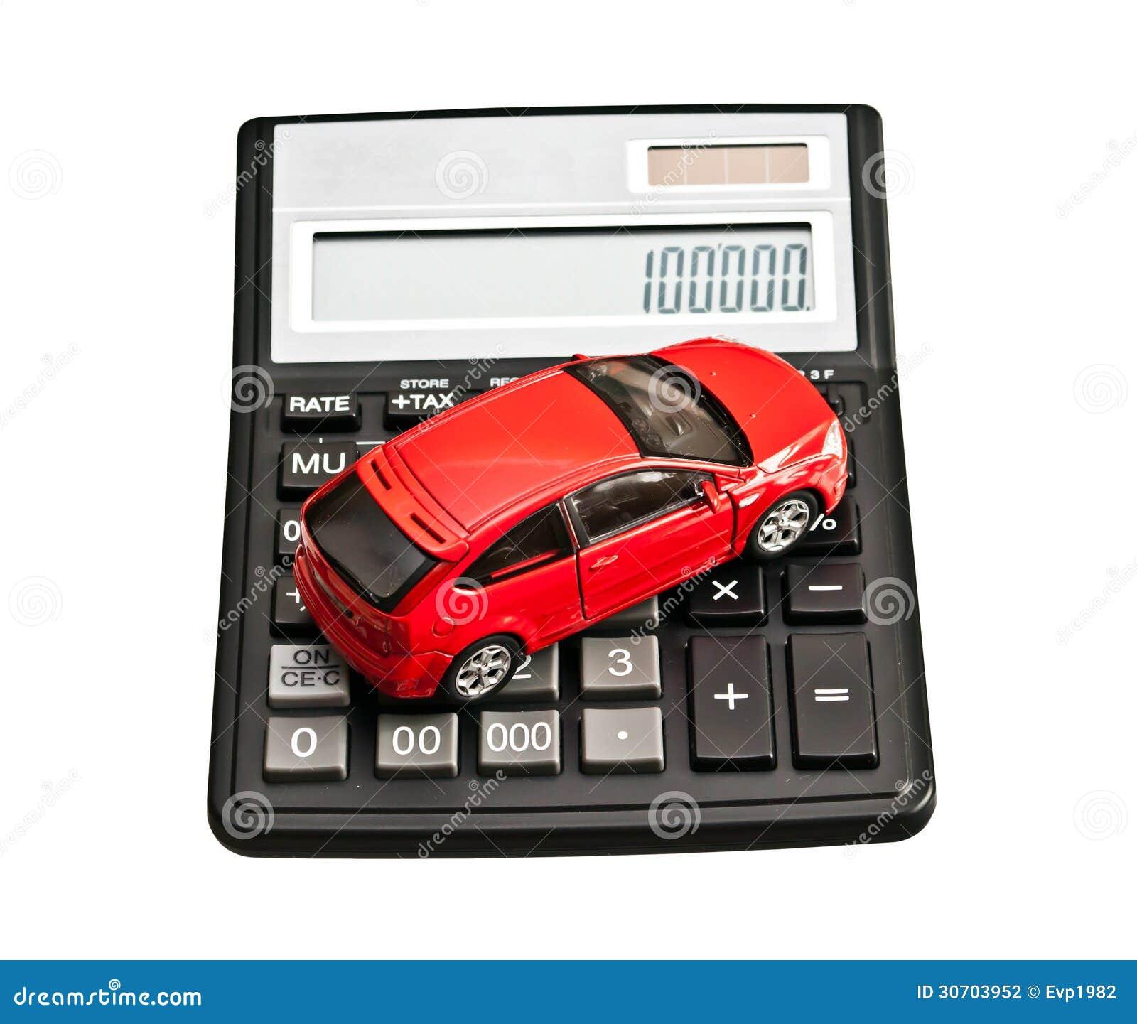 Toy Car And Calculator Stock Photography Cartoondealer