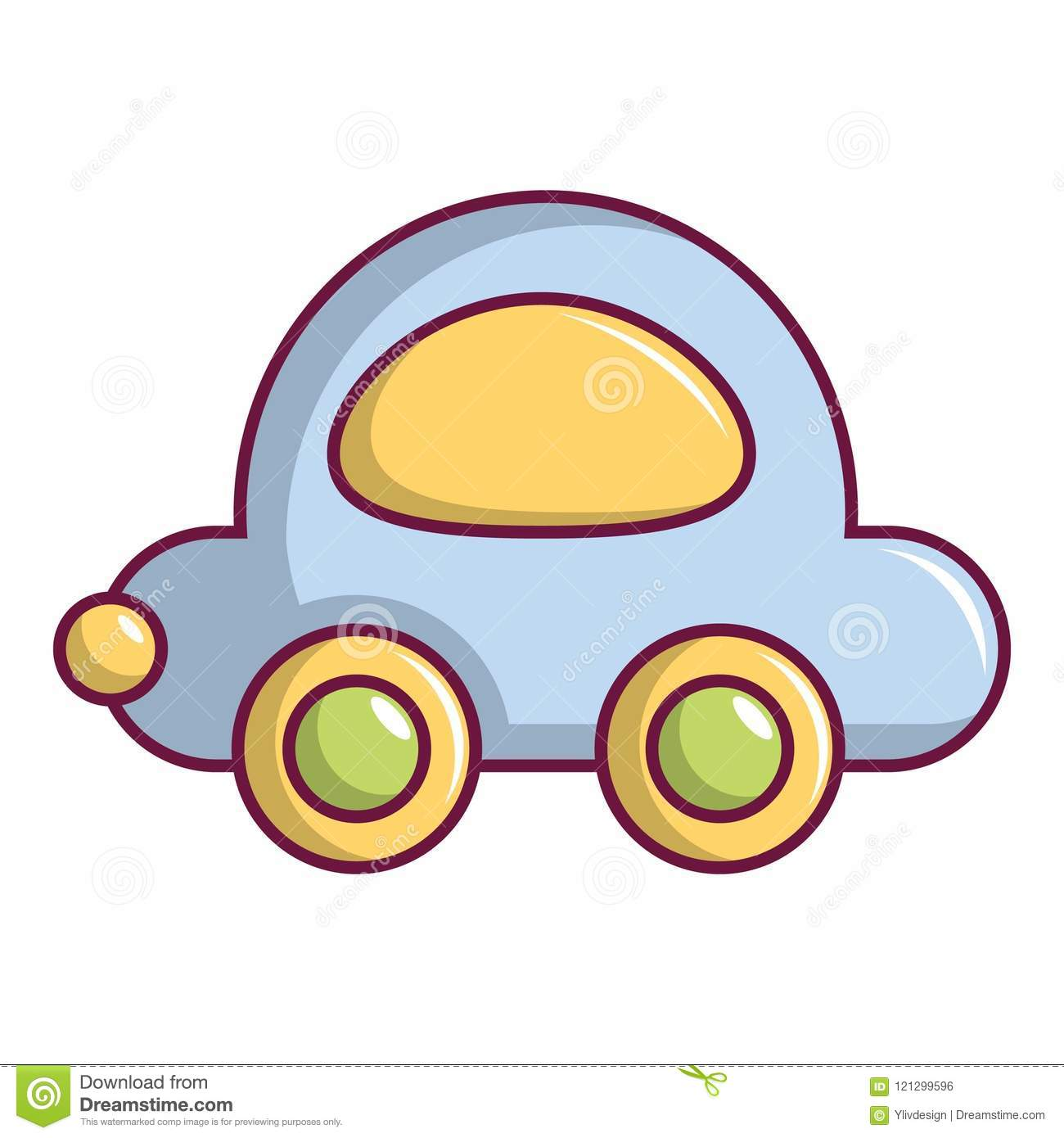 Toy Car Icon Cartoon Style Stock Vector Illustration Of Model