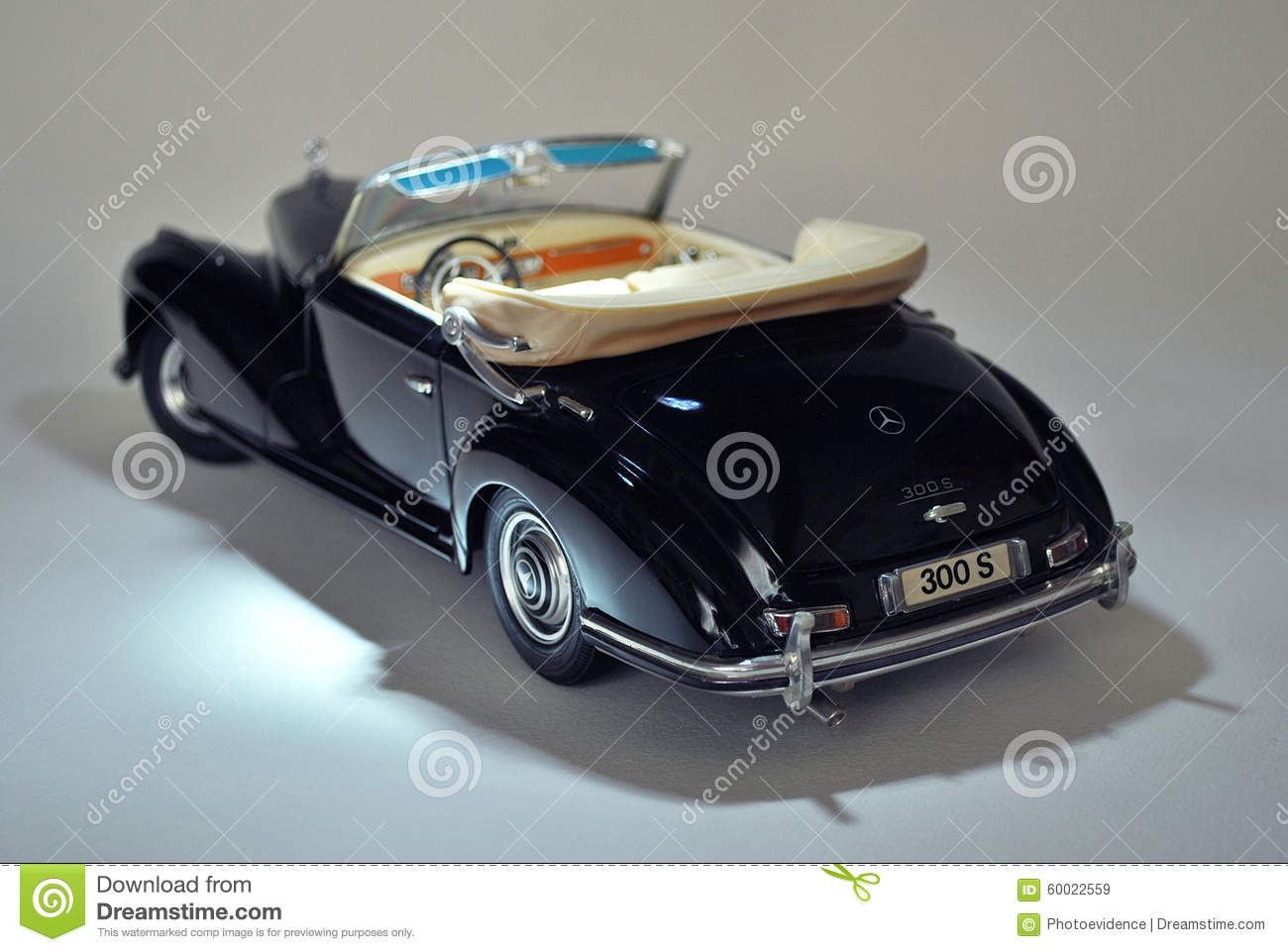 Toy car model mercedes benz 300s 1955 editorial stock for Mercedes benz toy car models