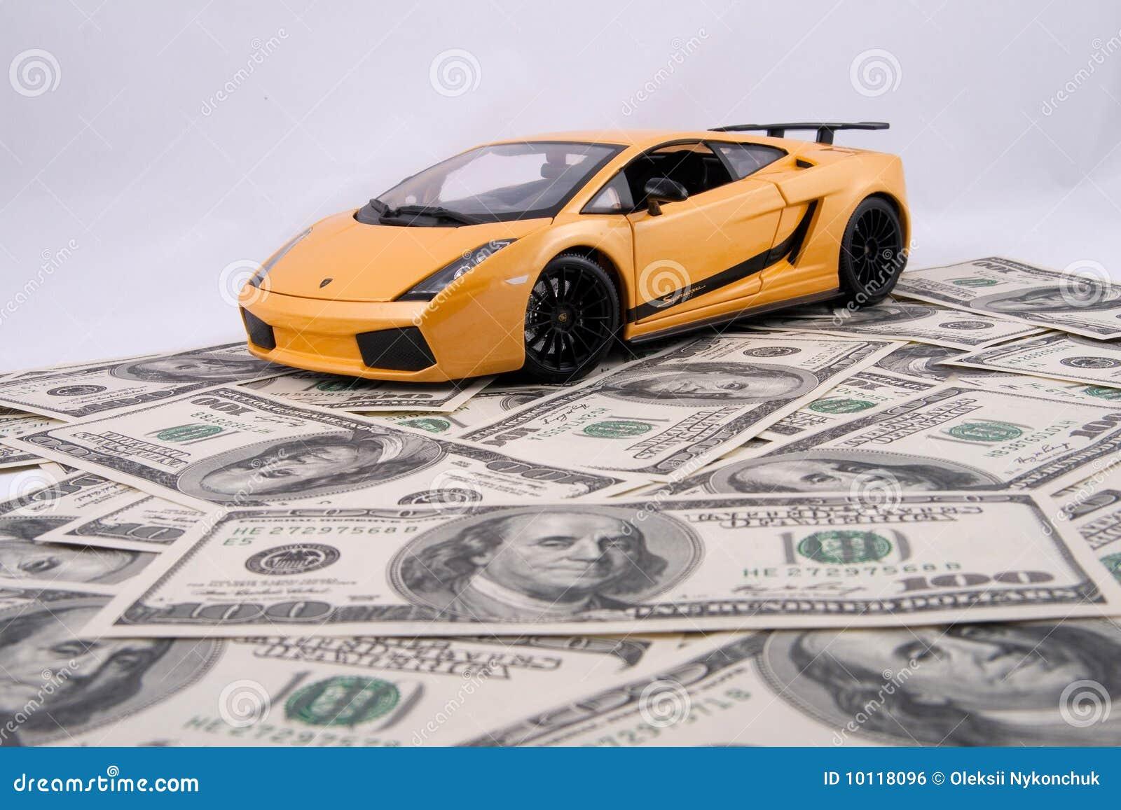 Toy Car On Money Background Royalty Free Stock Image ...