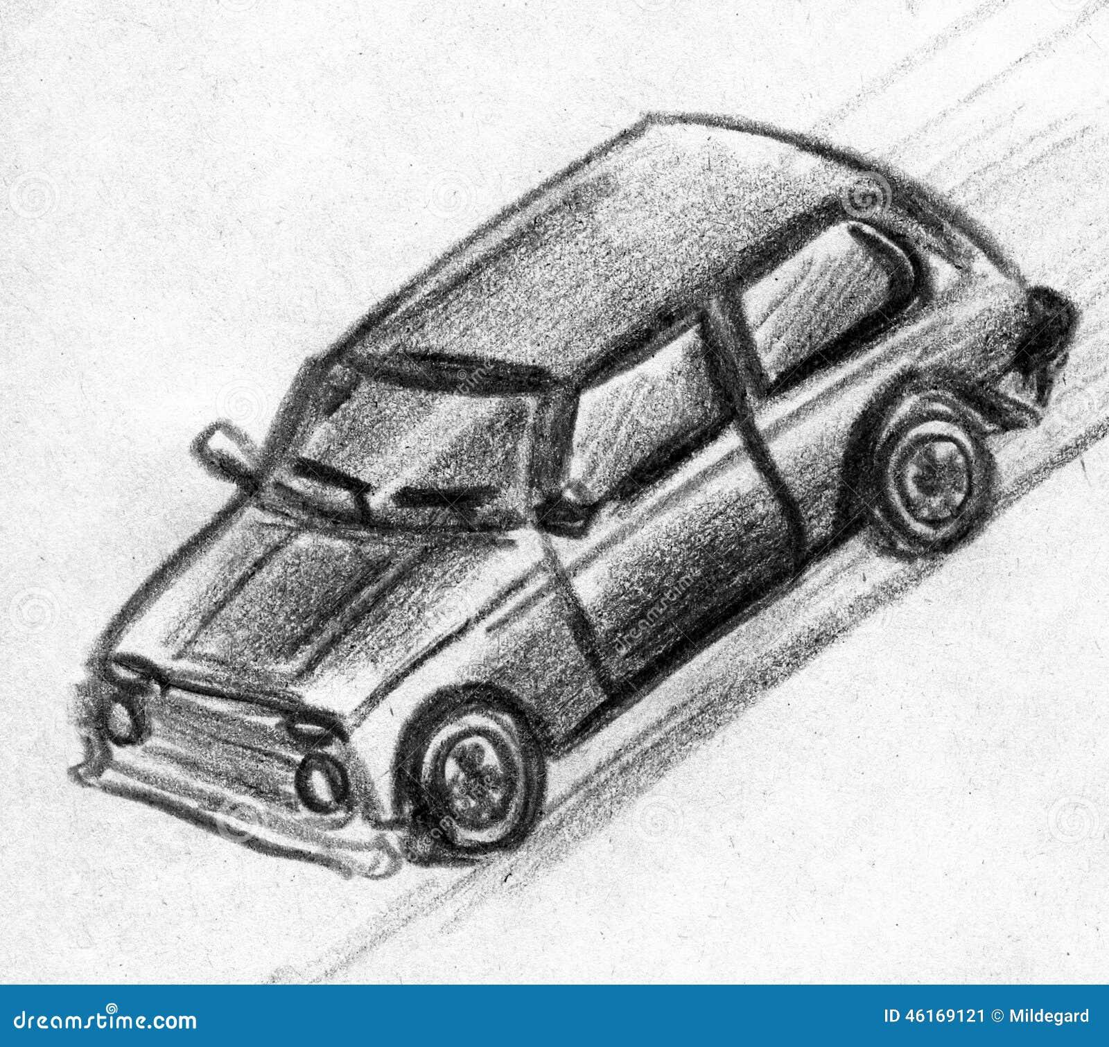 Toy car sketch stock illustration. Illustration of moving - 46169121