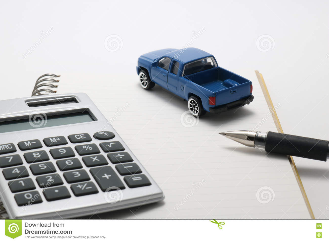 Royalty free stock photo download toy car truck calculator
