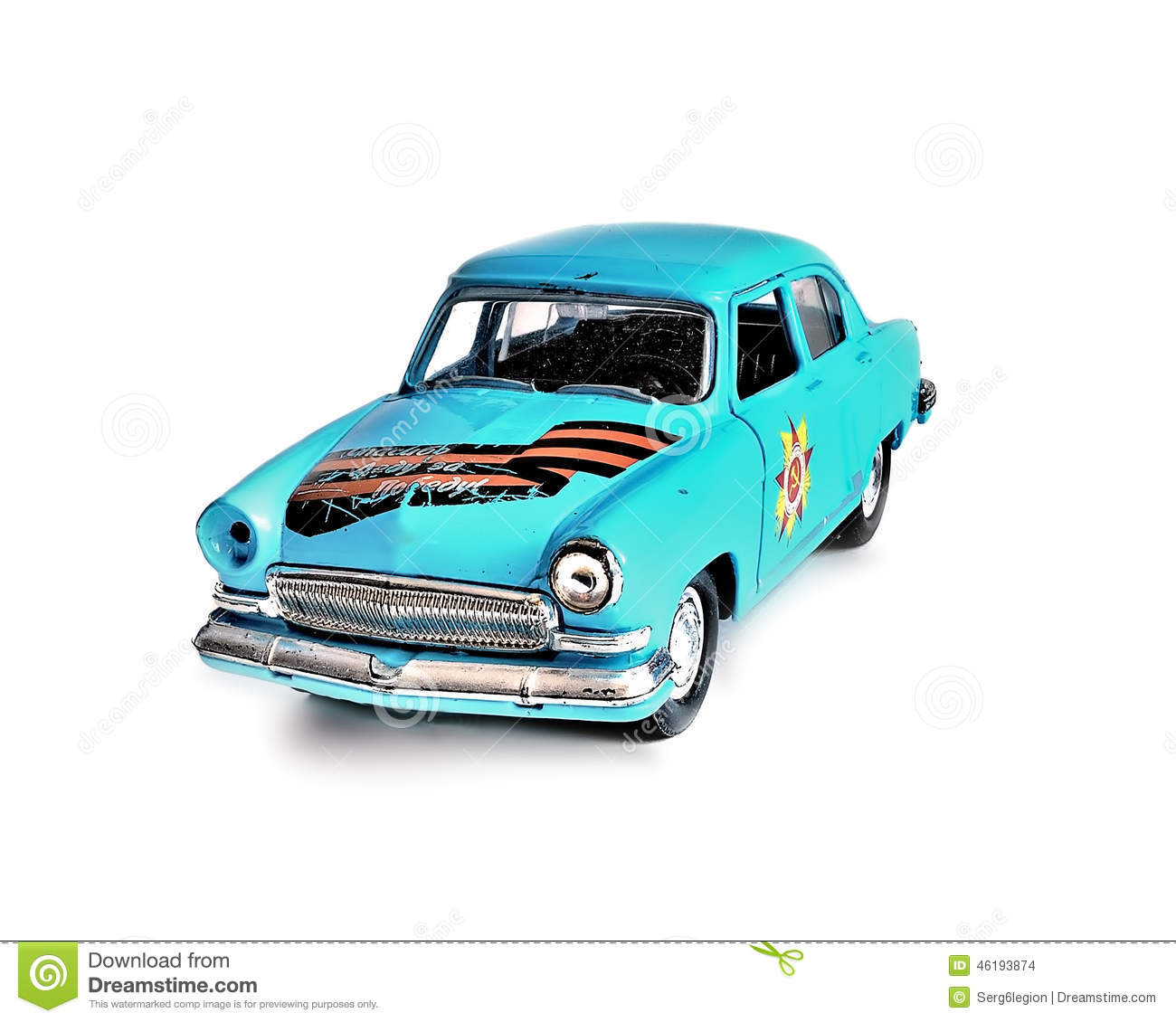 Car Toys Color : The toy car on a white background stock photo image