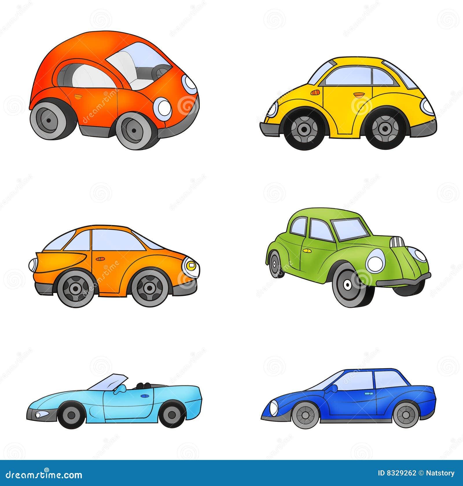 Toy Car Clip Art : Toy cars stock illustration of orange green