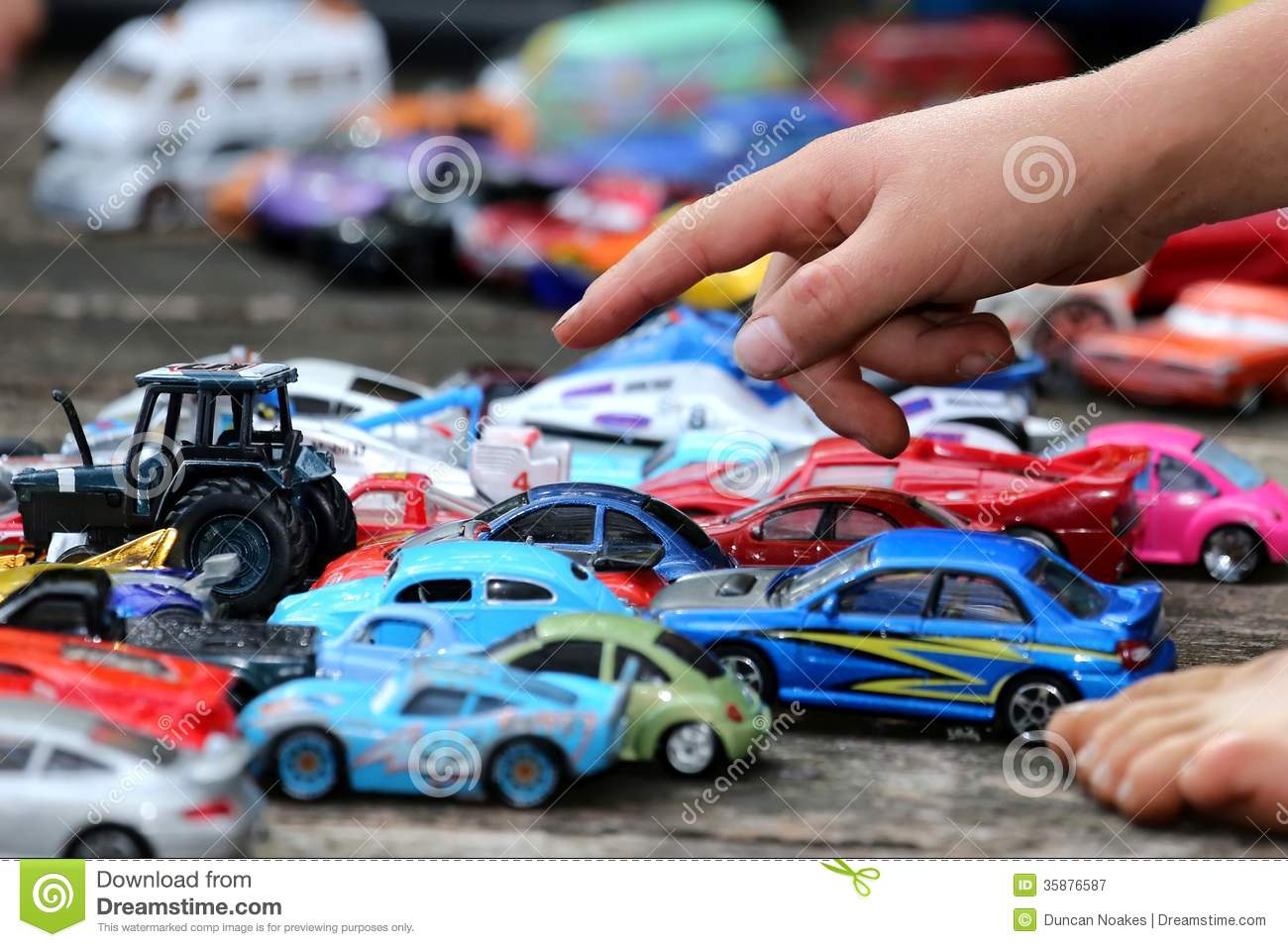 Big Boy Toys Games : Toy cars game stock image of child play outdoors