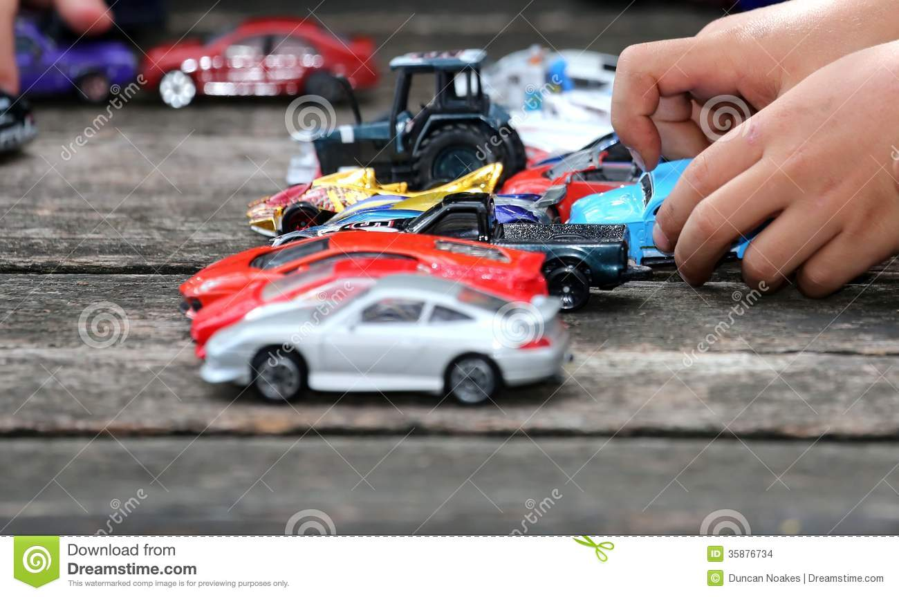 Big Boy Toys Games : Toy cars game stock images image
