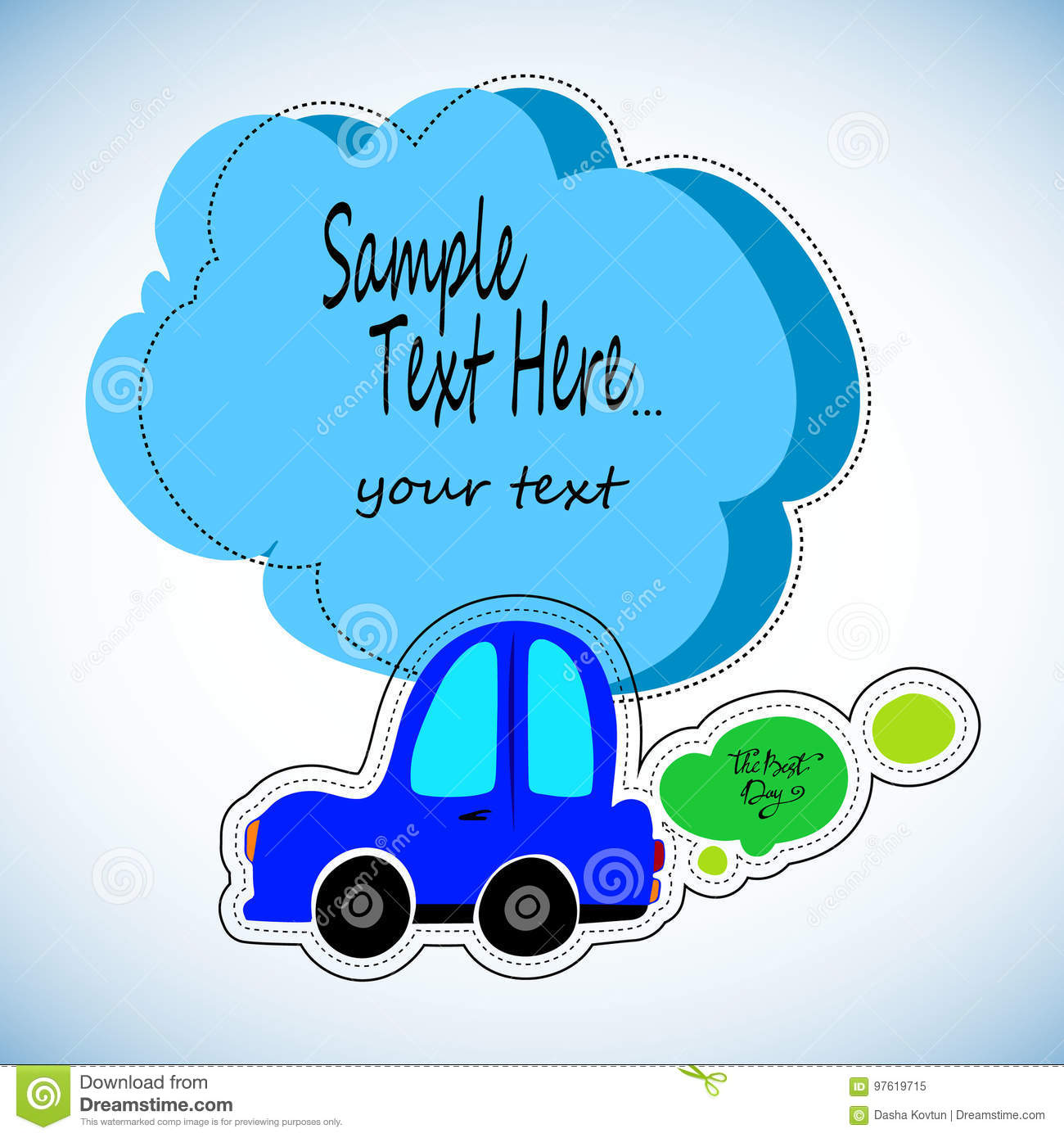 Toy Cars White Outline On A Blue Background Vehicles Travel