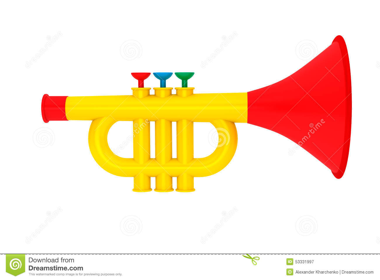 Toy childs trumpet stock photo image 53331997 royalty free stock photo download toy childs trumpet sciox Choice Image