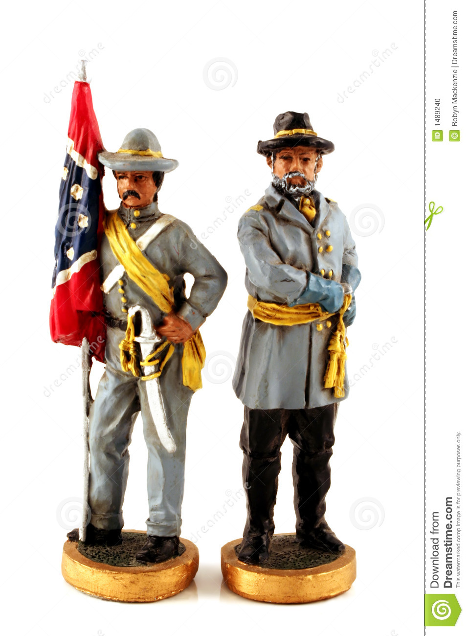 Toy Confederate Soldiers Stock Photo - Image: 1489240