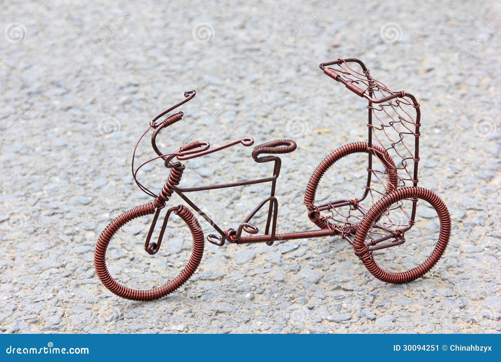 Велосипед из проволоки поделка инструкция