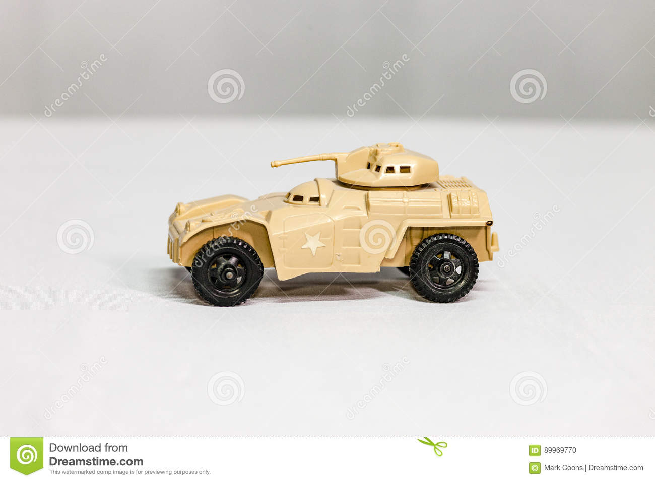 Toy desert tan Armored Personnel Carrier