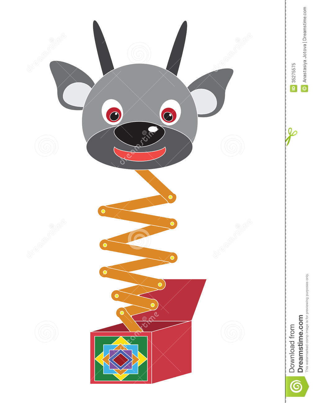 Toy The Devil In A Box Stock Illustration Illustration Of