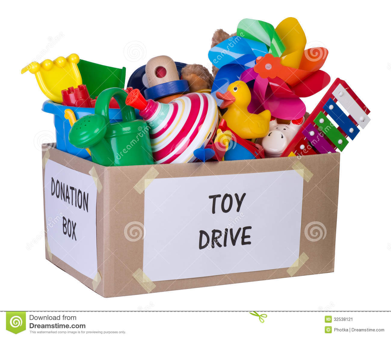 Toy Donation Box Stock Image - Image: 32538121