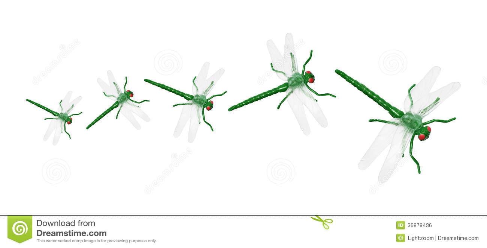 Download Toy Dragonflies fotografia stock. Immagine di invertebrati - 36879436