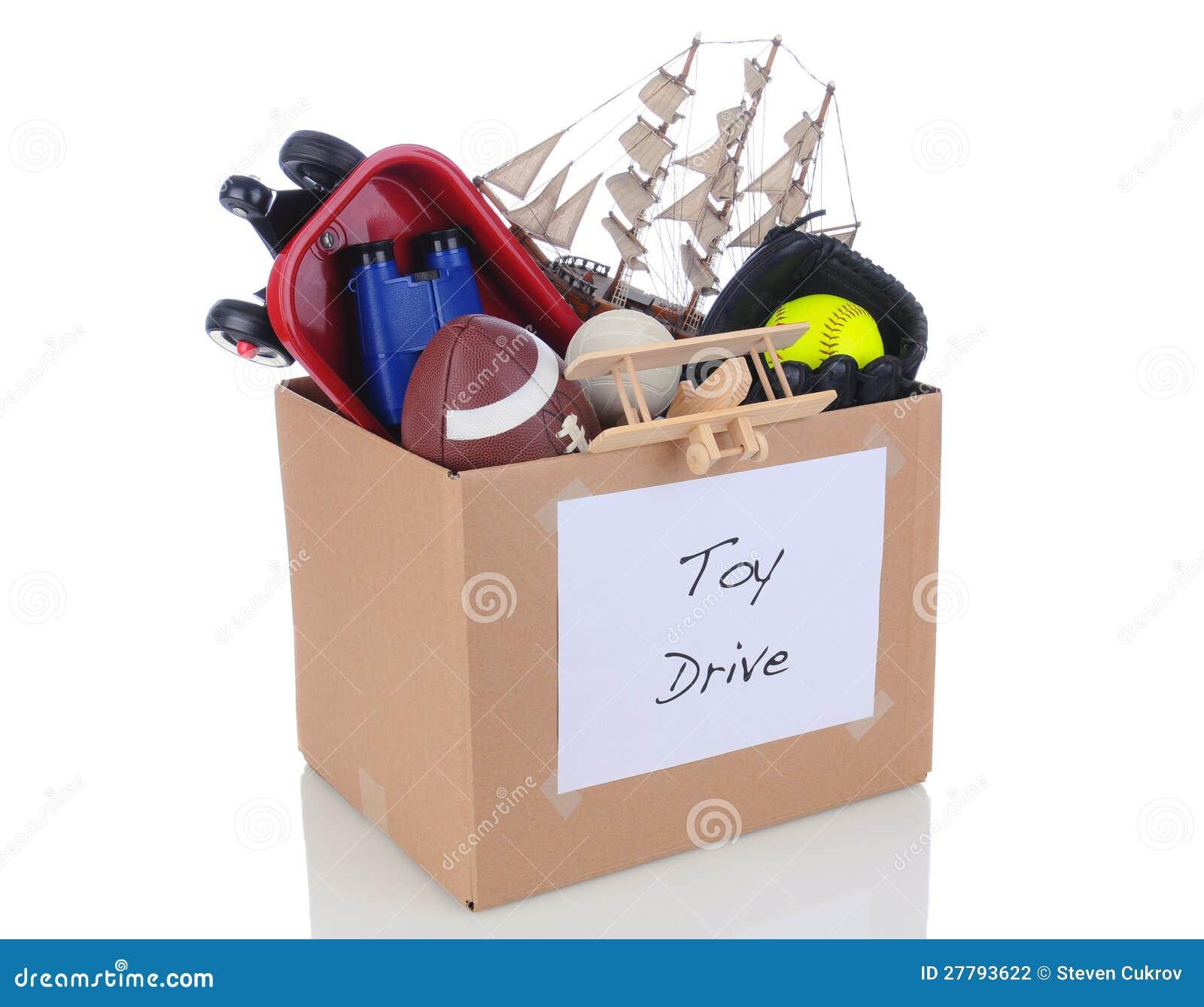 Christmas Toy Box : Toy drive donation box stock photo image of binoculars