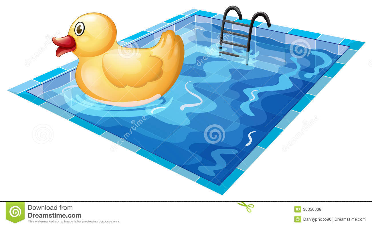A Toy Duck At The Pool Royalty Free Stock Photos - Image ...