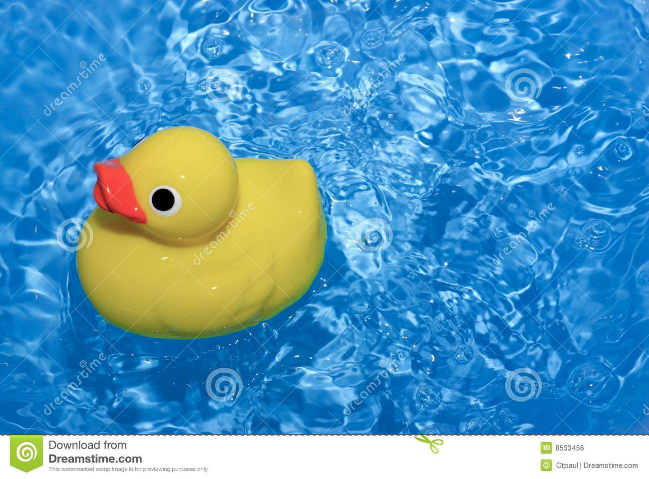 Toy Ducky In Water Royalty Free Stock Image Image 8533456
