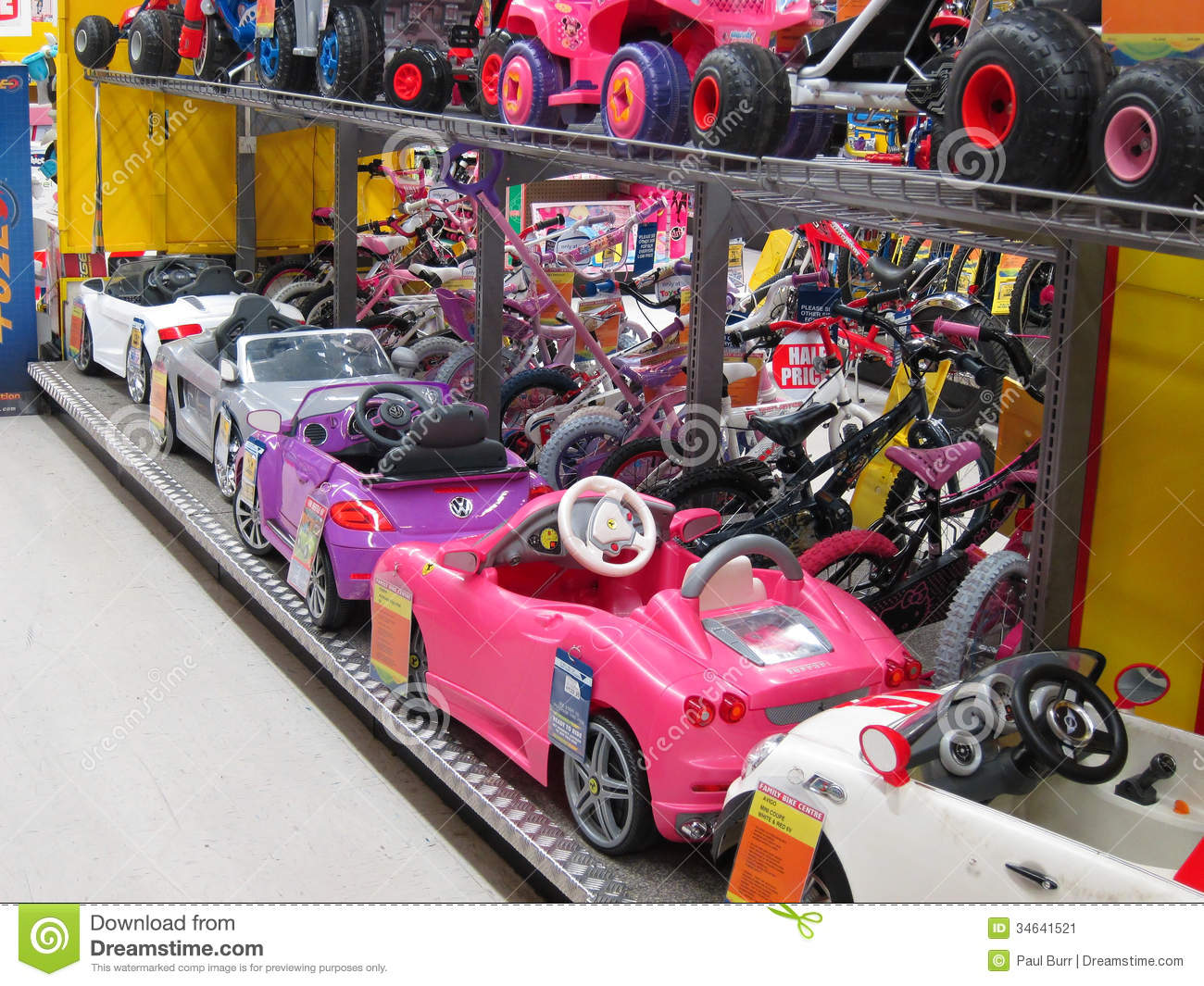 Toy Cars For Toys : Toy electric cars in a store editorial photo image
