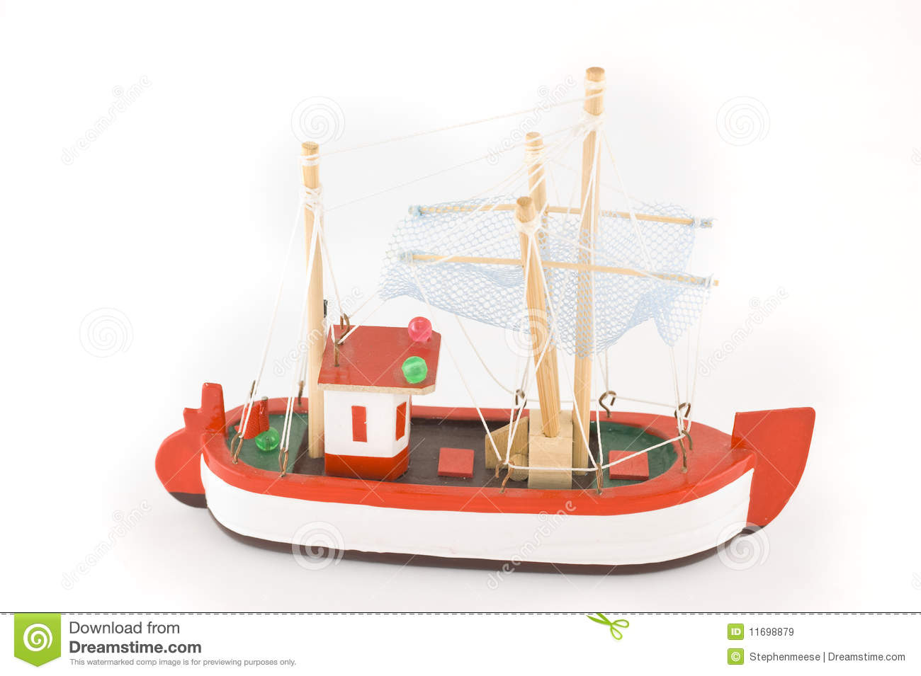 Toy Fishing Boat stock image. Image of hook, boat, brass ...