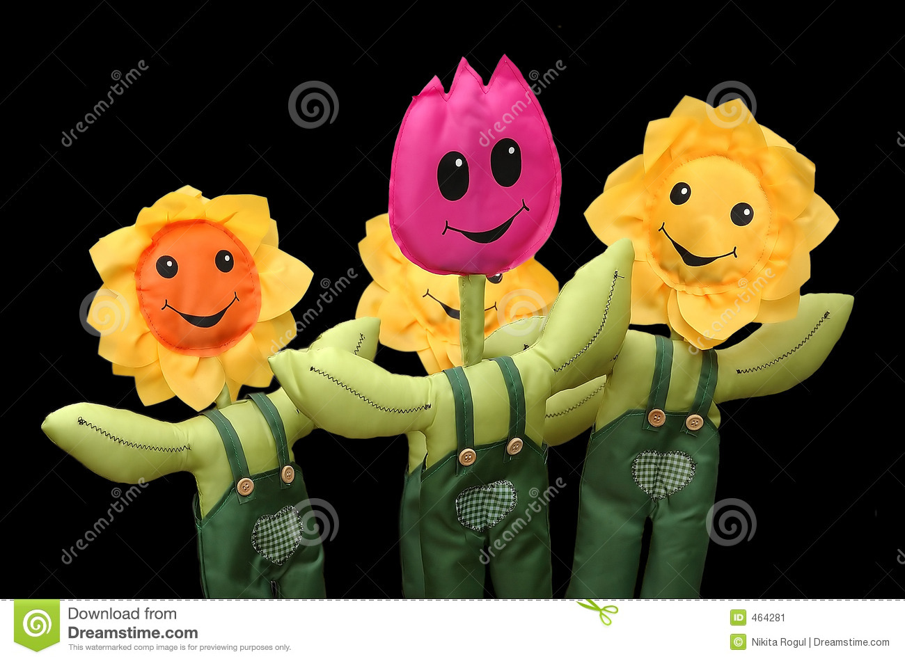 Download Toy flowers stock image. Image of smile, yellow, heart - 464281