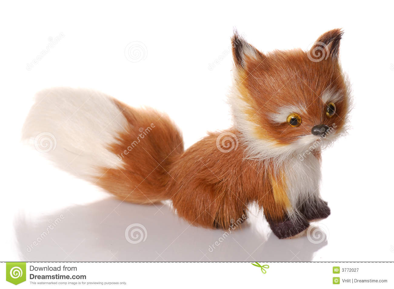 Toy Fox Royalty Free Stock Photography - Image: 3772027