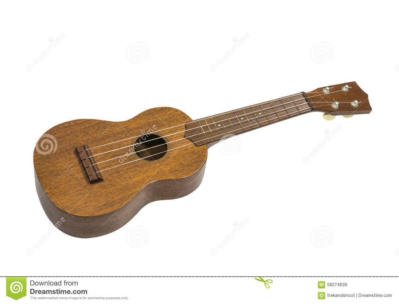 toy guitar ukulele isolated stock photo image 58274639. Black Bedroom Furniture Sets. Home Design Ideas