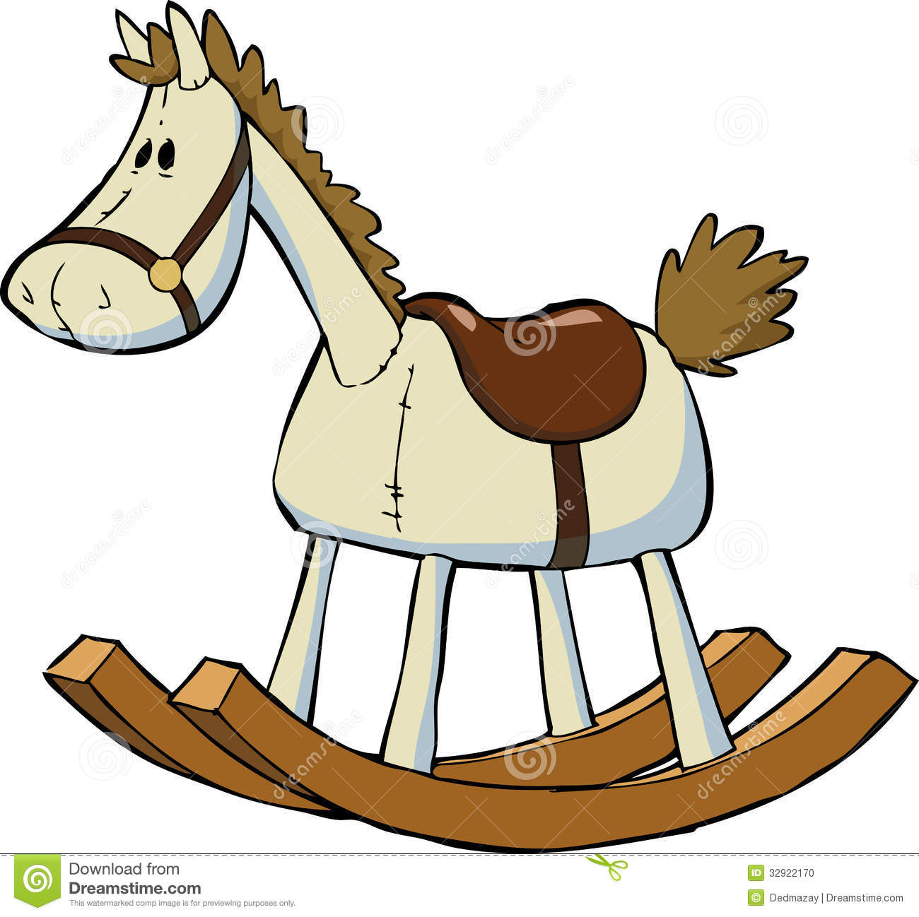 Toy horse stock vector illustration of funny concept 32922170 - Clipart cheval ...