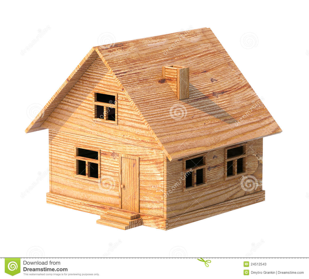 Casita House Plans Toy House Made Of Plywood Isolated On White Stock Photos