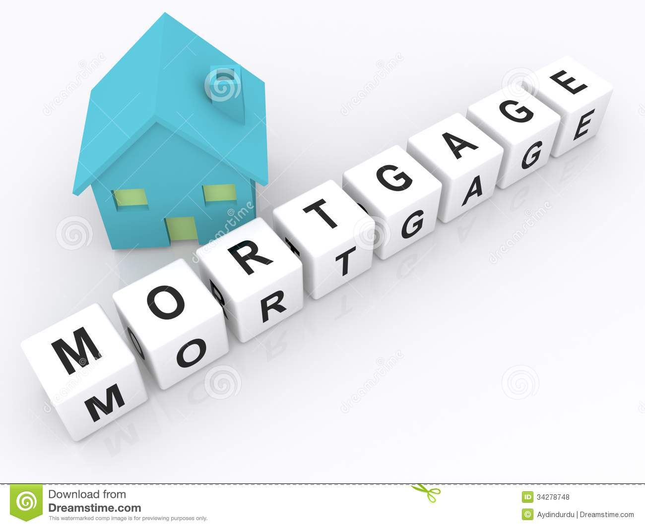 Toy House And Word Cube Mortgage Stock Illustration Illustration Of Blocks Payment 34278748