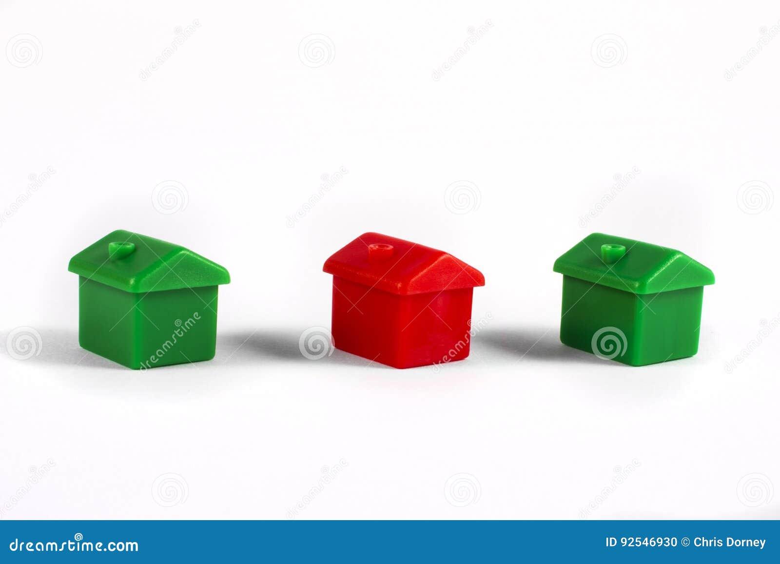 Toy Houses over een Witte Achtergrond