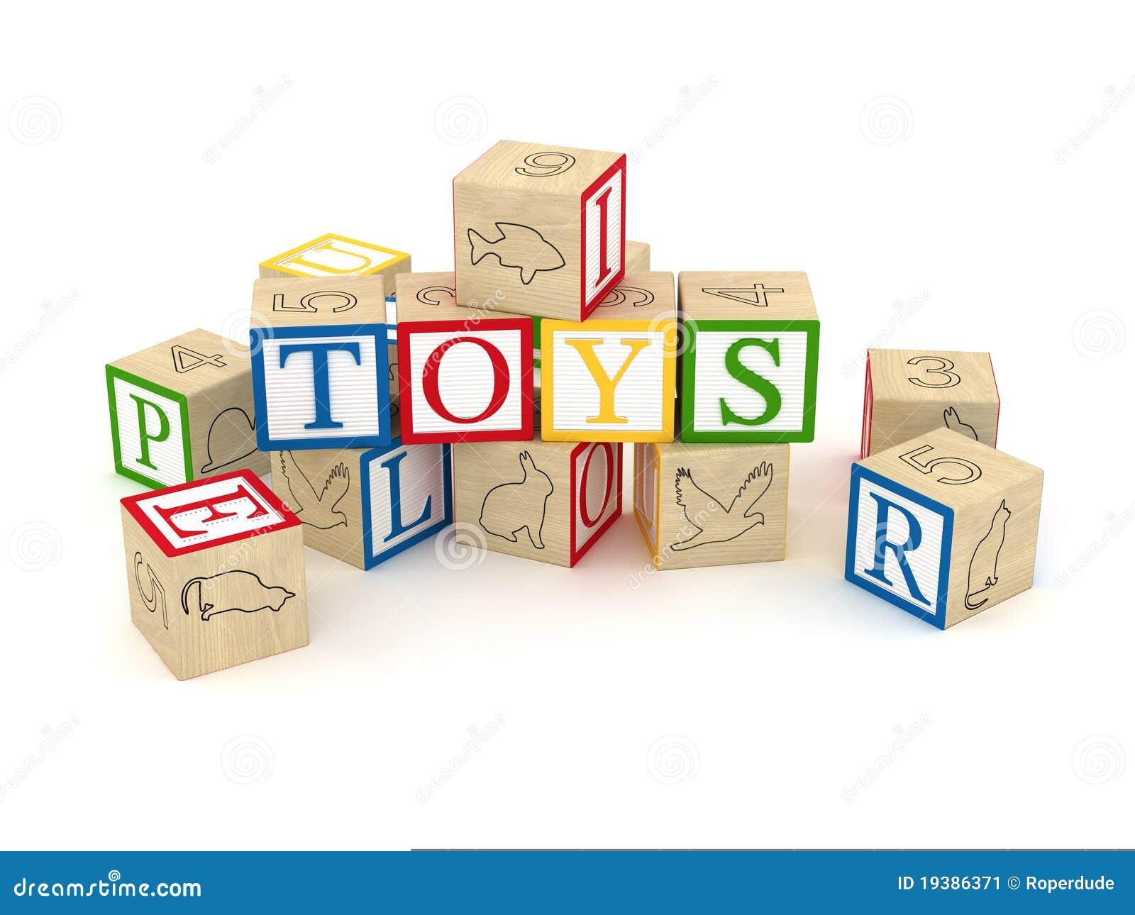 Toy letter cubes