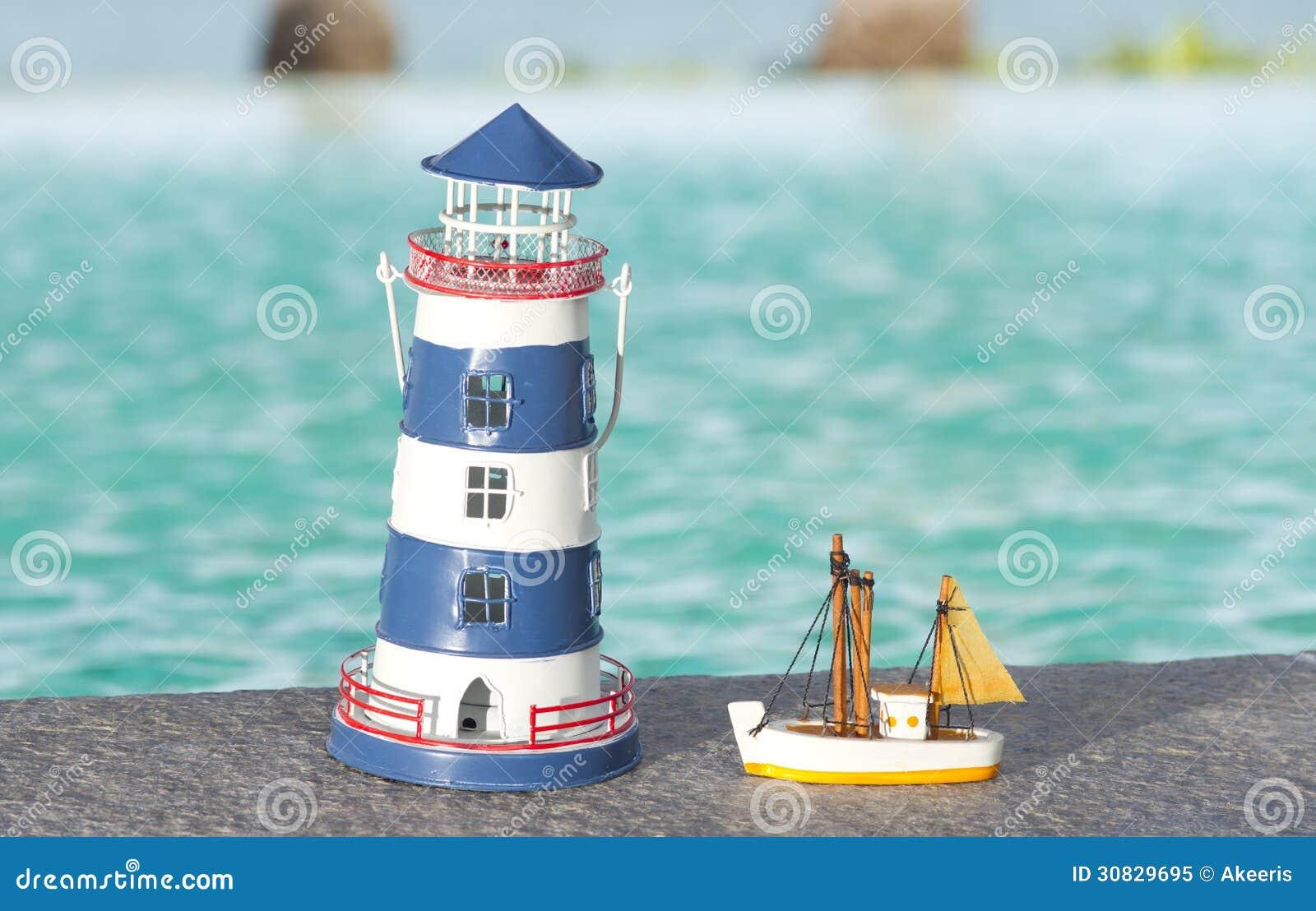 Toy lighthouse stock image. Image of antique, mini, model - 30829695