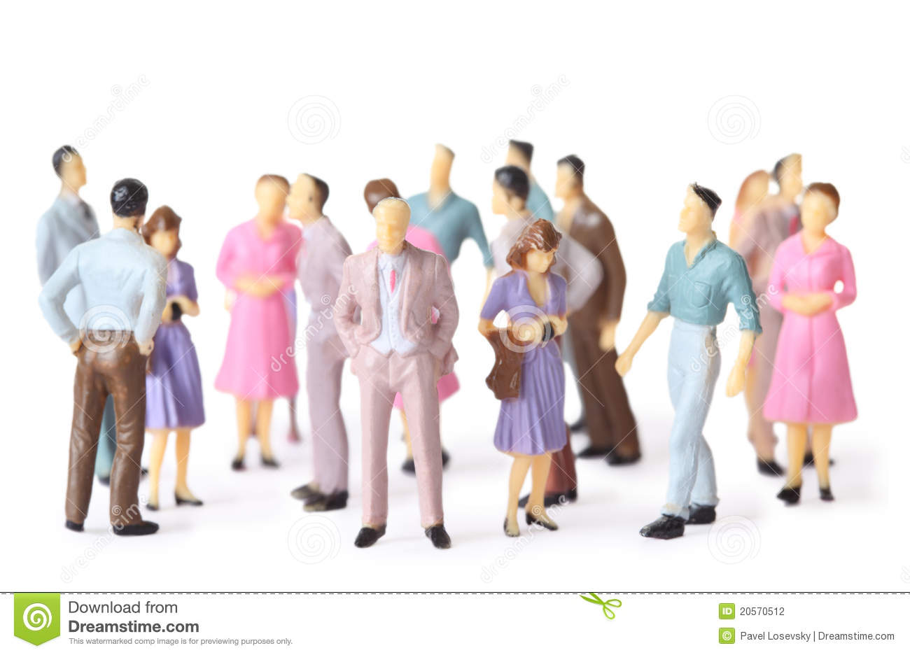 Toy People Stand In Different Poses Stock Photography